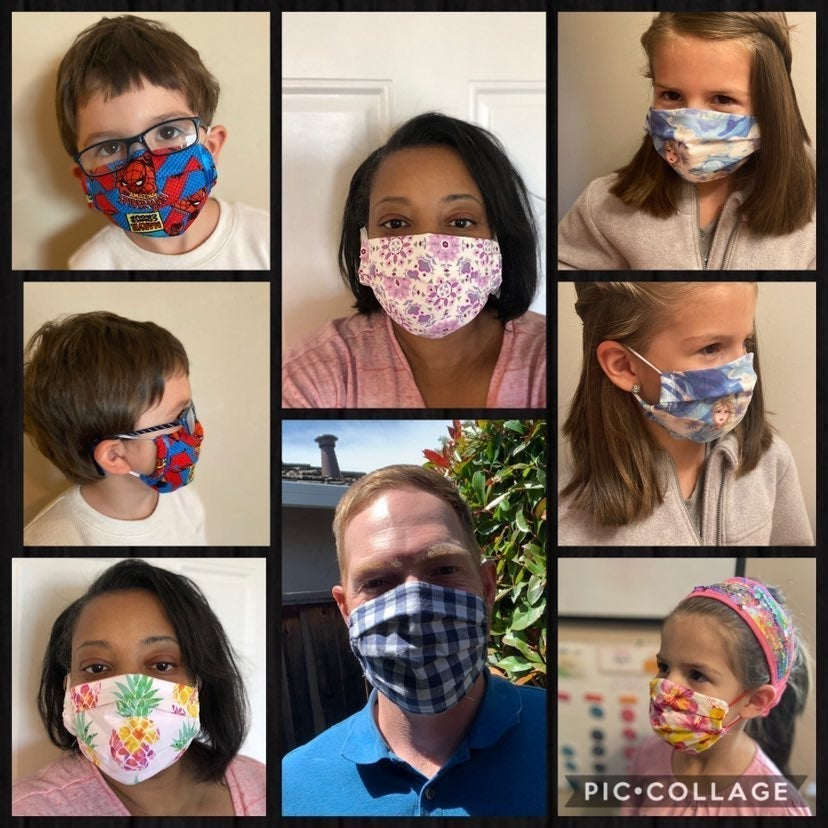 Handmade face covers
