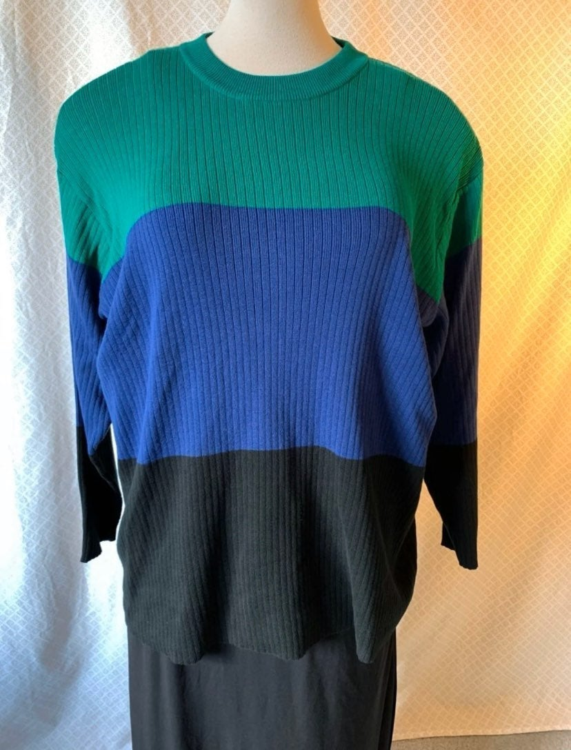 3X Liz Claiborne striped sweater