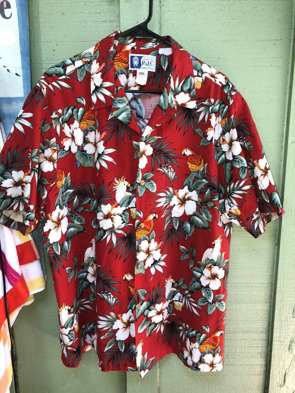 RJC : VINTAGE Hawaiian Shirt MENS xxl
