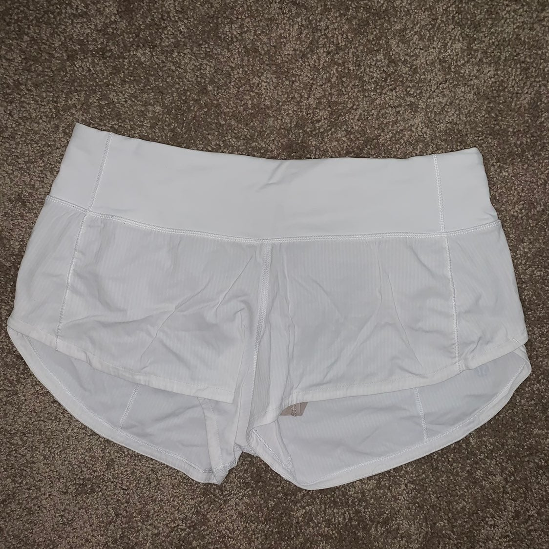Lululemon White Speed Up Shorts 4