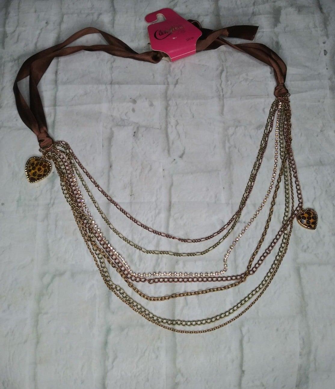 Candies chain leopard waist belt