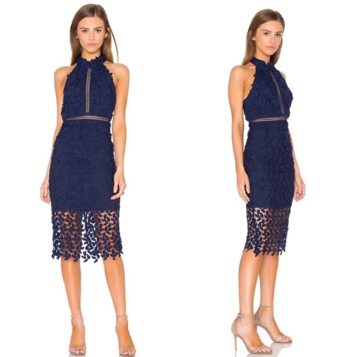 Bardot Halter Neckline Gemma Dress