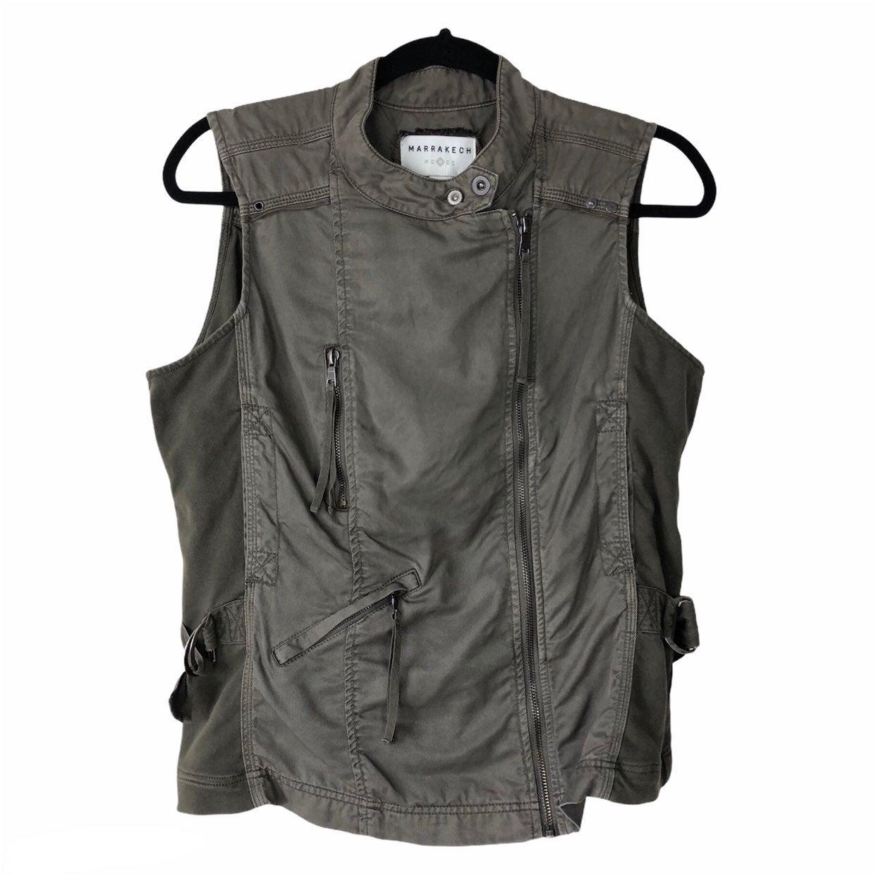 Merrakech gray utility vest large women