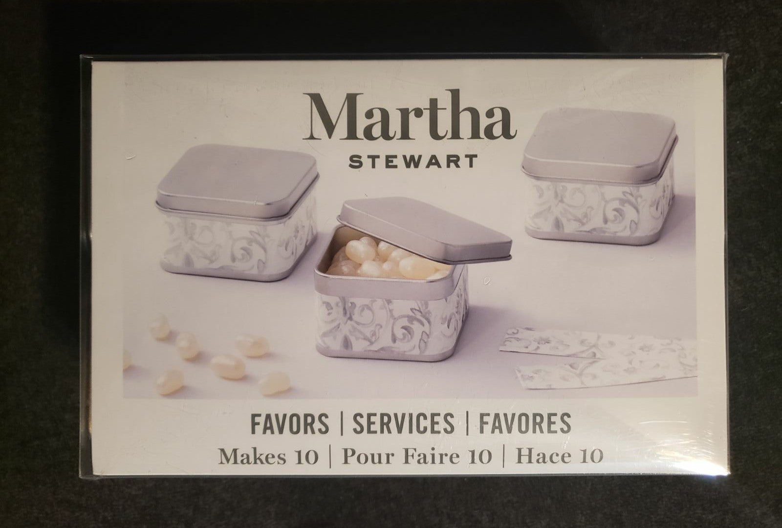 Martha Stewart Silver Favor Tins