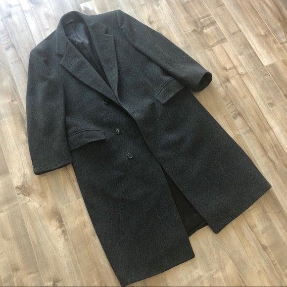Christian Dior long wool gray coat