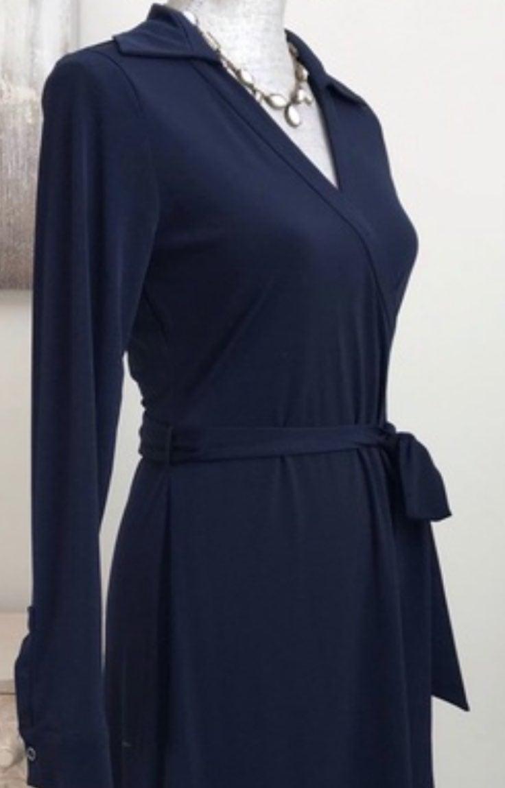 Calvin Klein Navy Wrap Dress