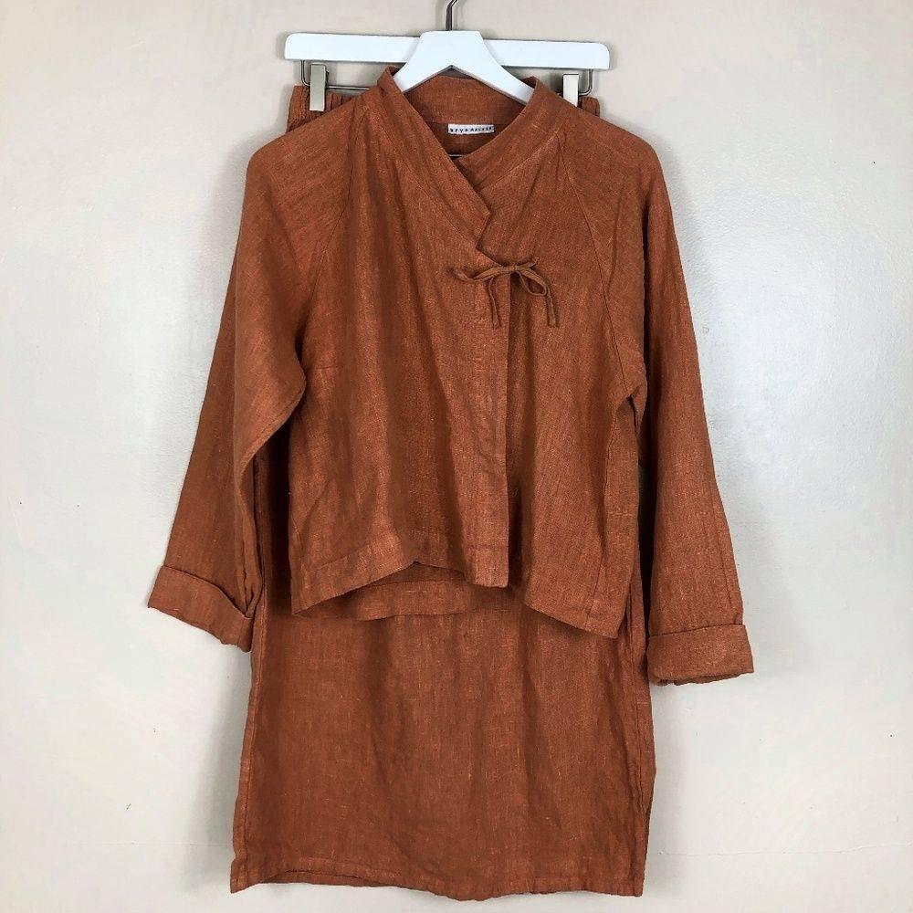 Bryn Walker Linen Top and Skirt Set