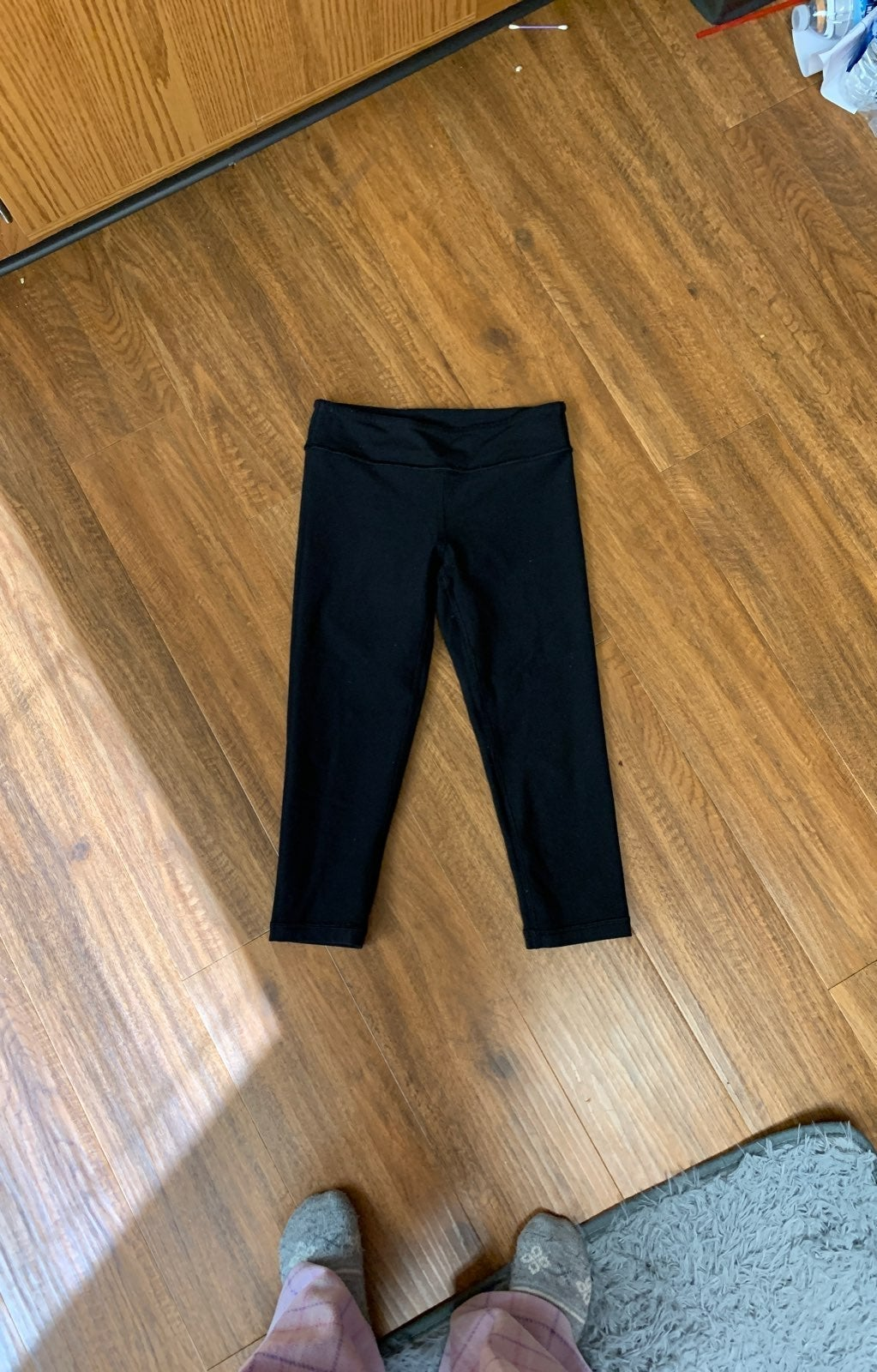 ivivva leggings, cropped and reversible