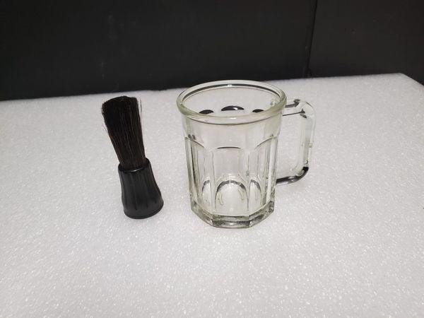 Vtg Barbershop Shave Brush n Saloon Mug