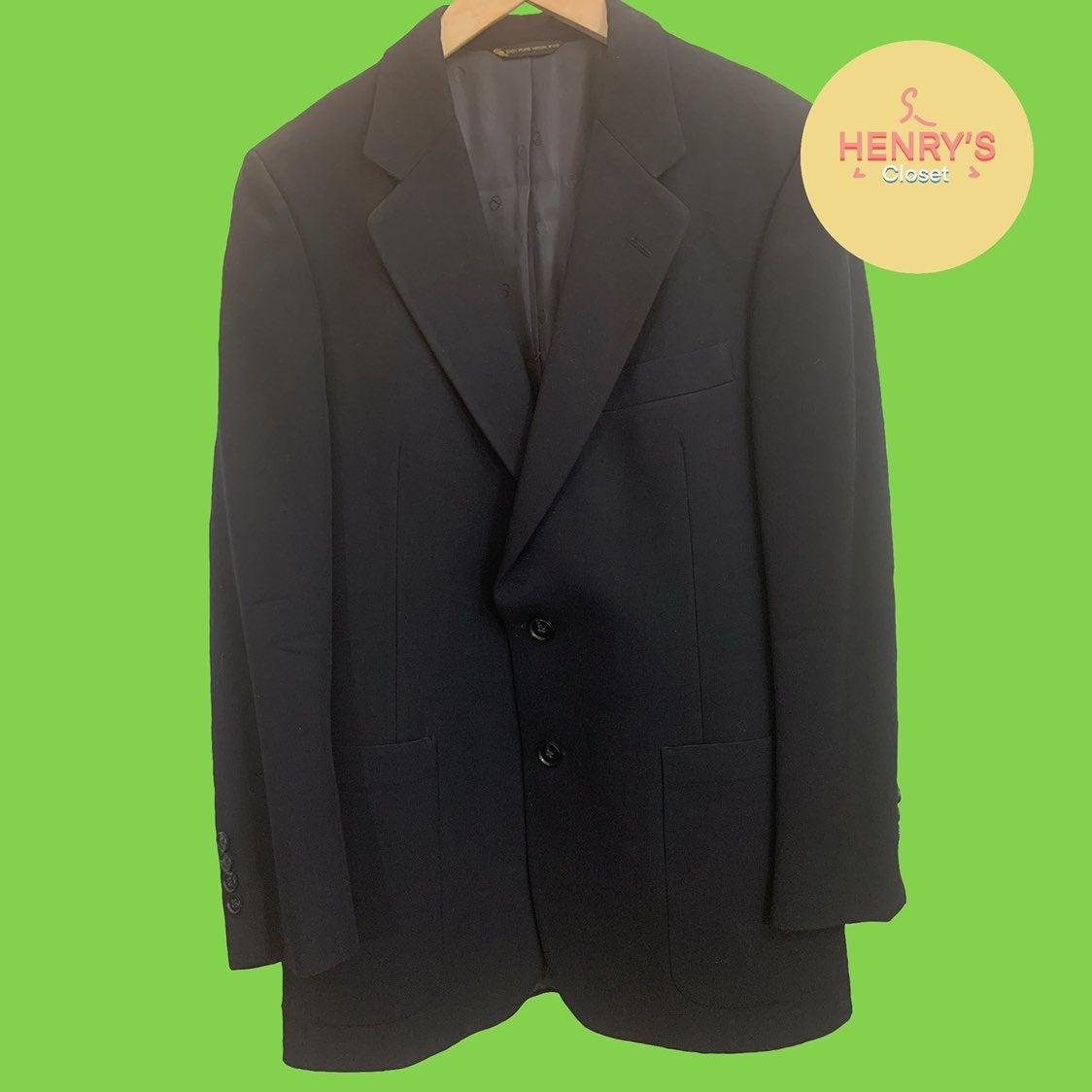 Vintage Christian Dior Men's Navy Suit