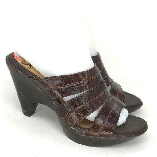 Sofft Womens 1514350 Brown Heel Sandals