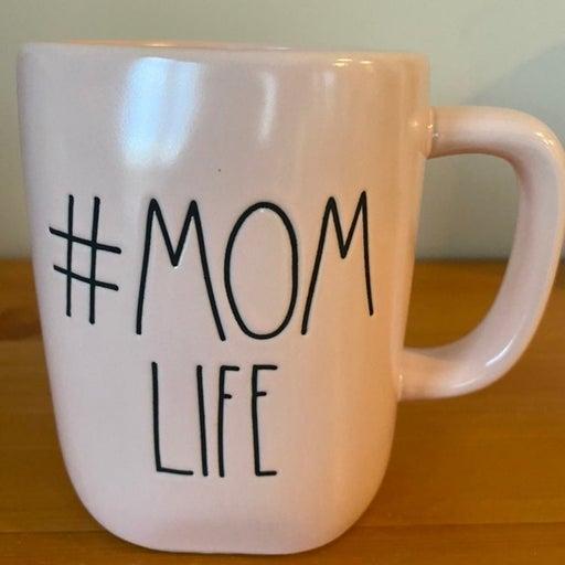 Rae Dunn # MOM LIFE coffee mug