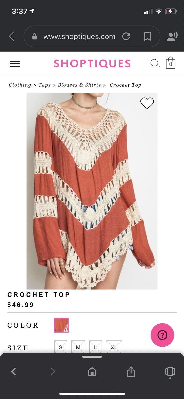 Umgee Crochet Blouse