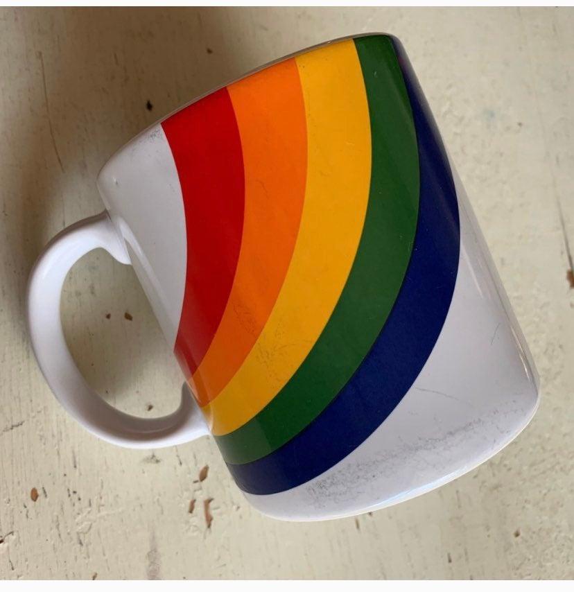 vintage FTD rainbow mug