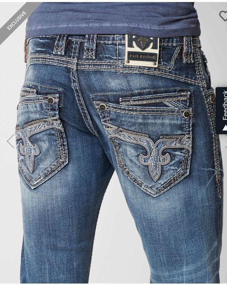 Men's Rock Revival Slim Straight Jeans