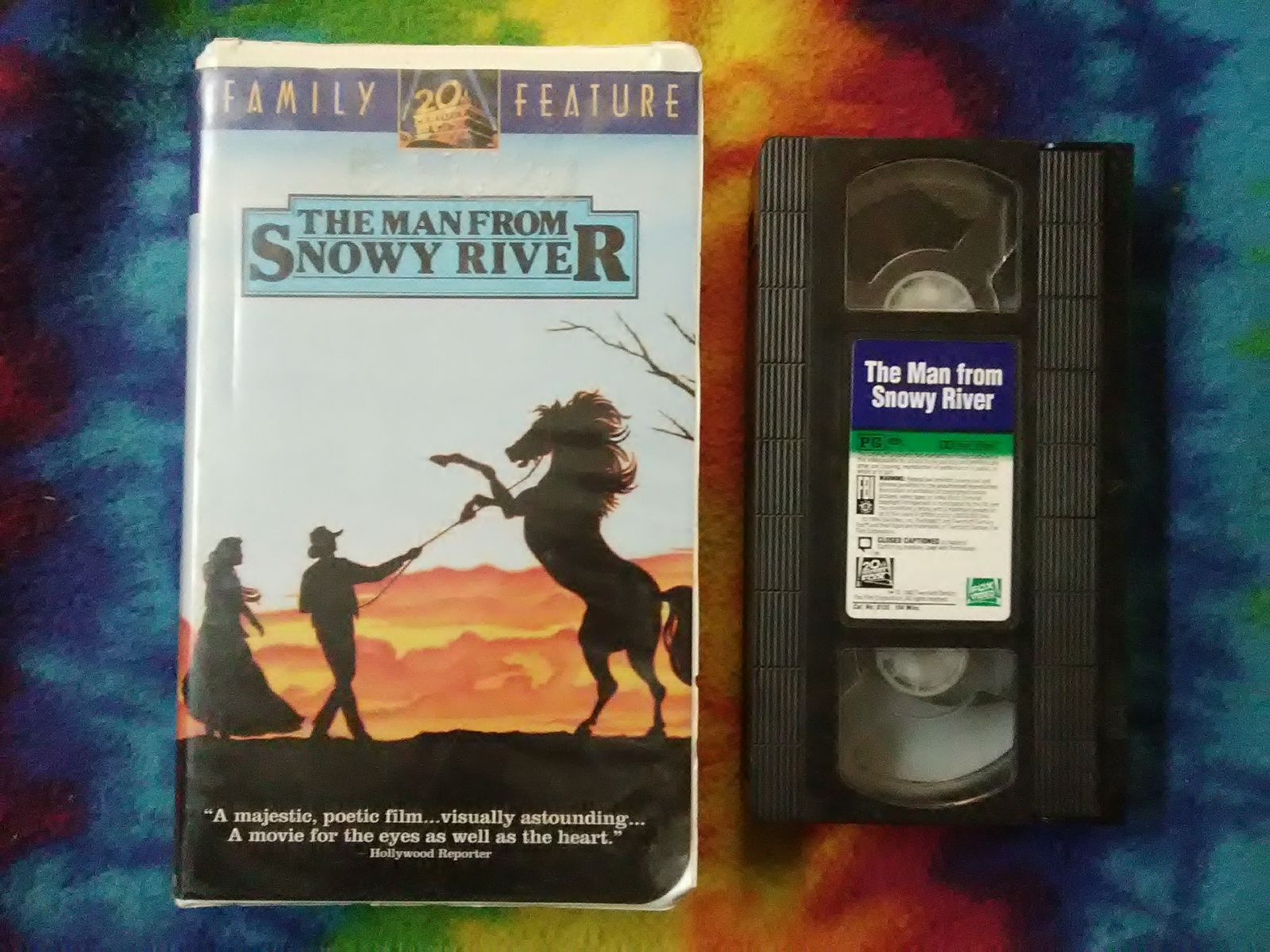 The Man From Snowy River VHS White Clam