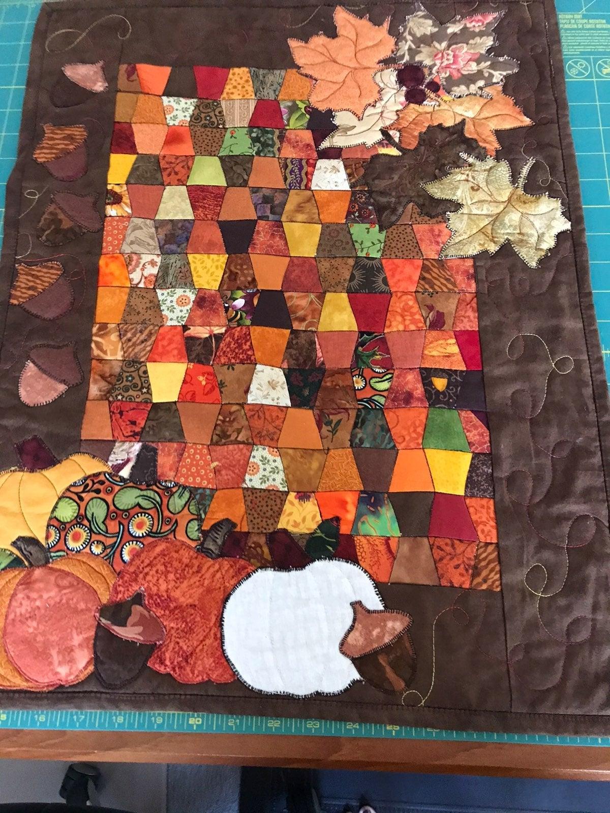 Fall harvest mini quilt