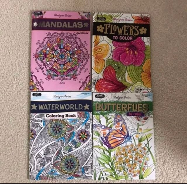 Four Adult Coloring Books
