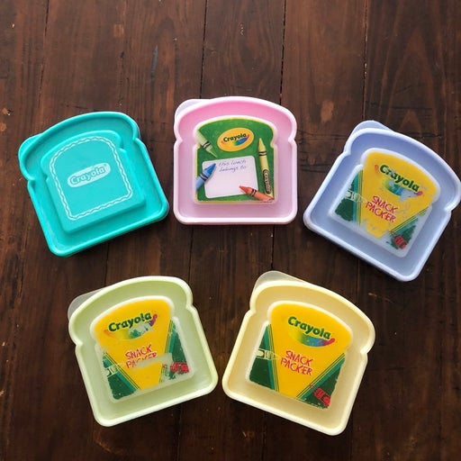 Crayola sandwich snack packers and Therm