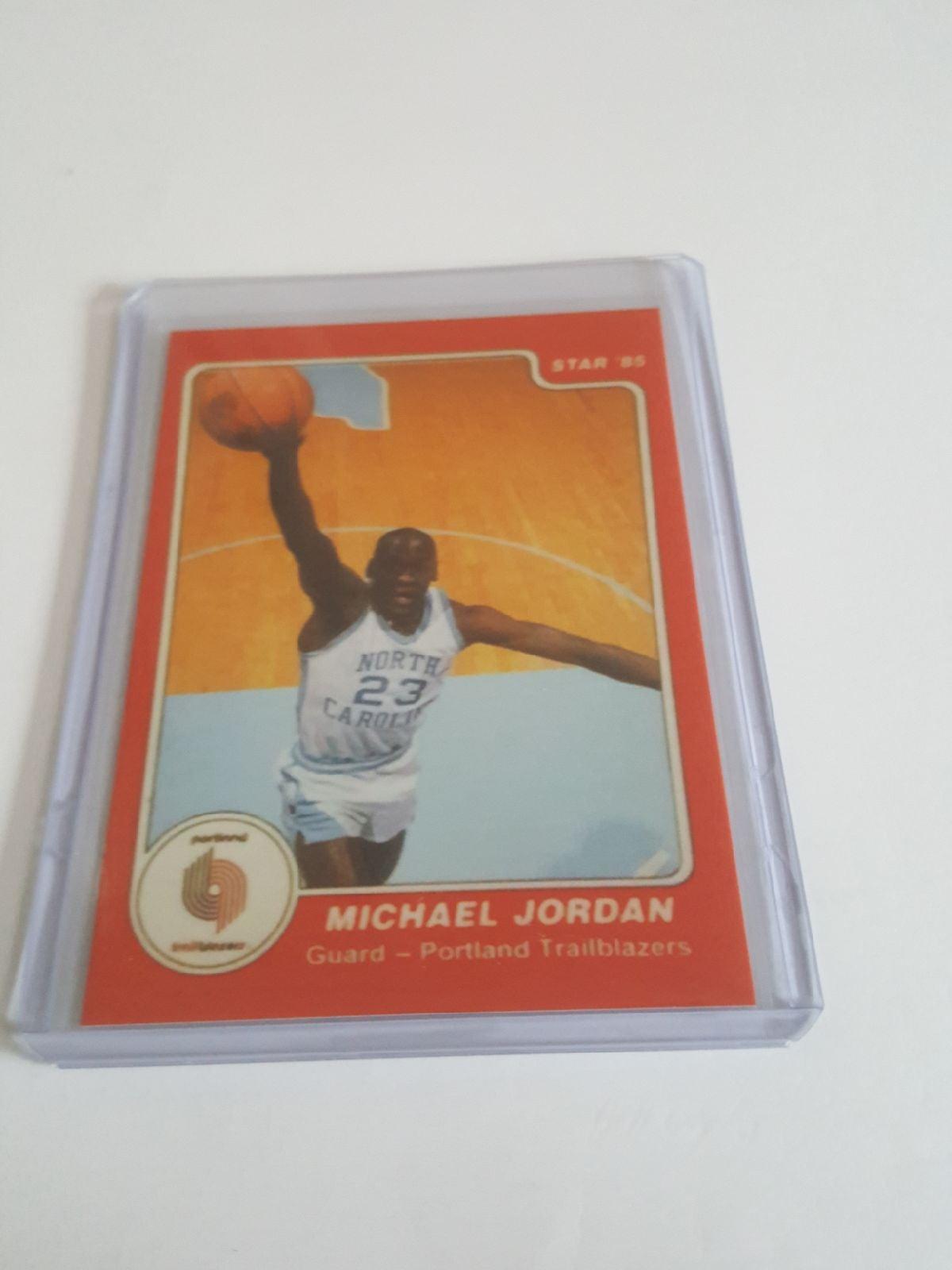 Michael Jordan 1985 star error card red