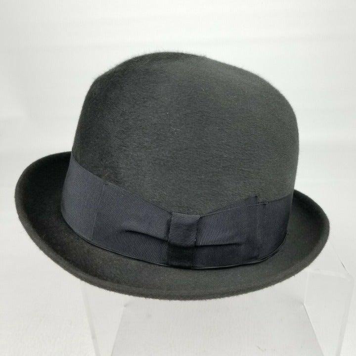Vintage Borsalino Mens Bowler Hat 6 3/4