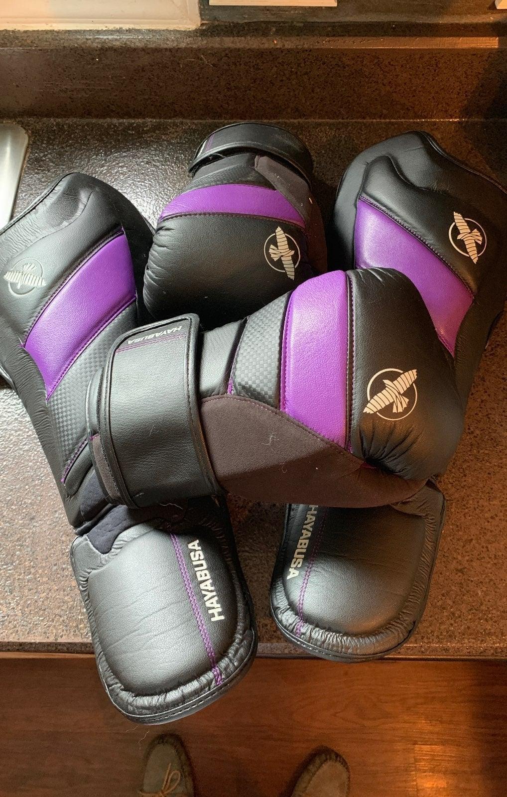 Hayabusa Shin Guards and Gloves