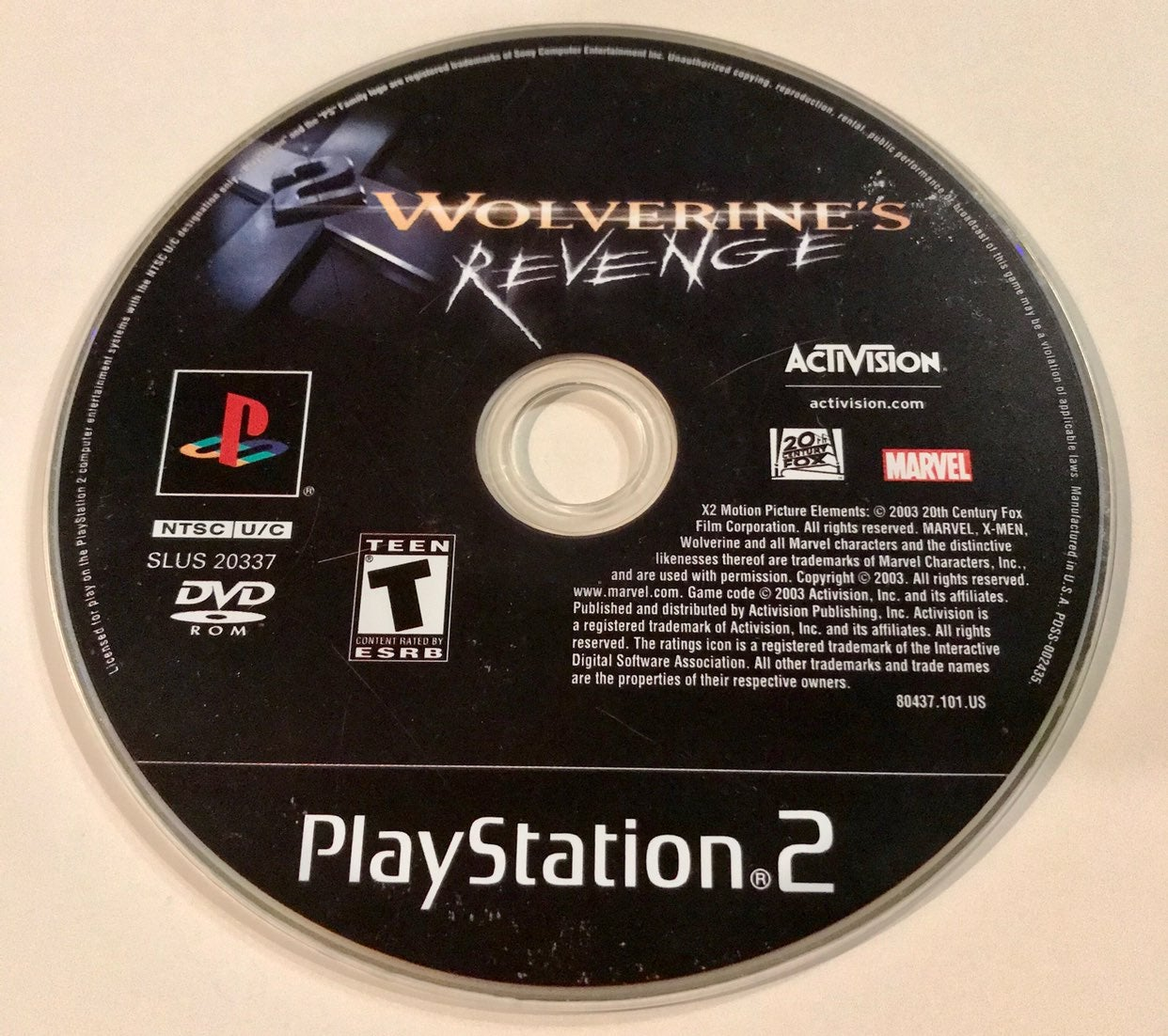 Wolverines Revenge Playstation 2