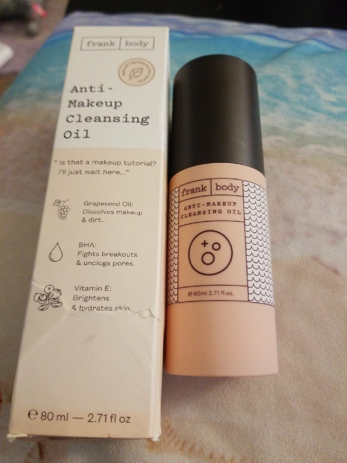 Anti makeup cleansing oil