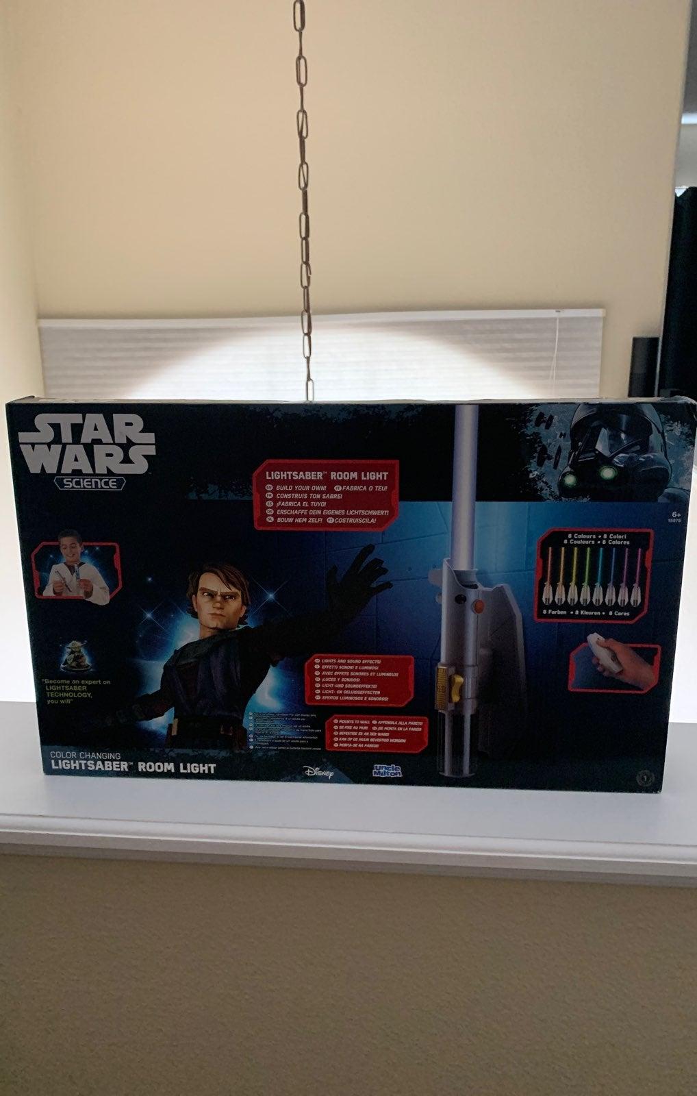 Star Wars Science- Lightsaber Room Light