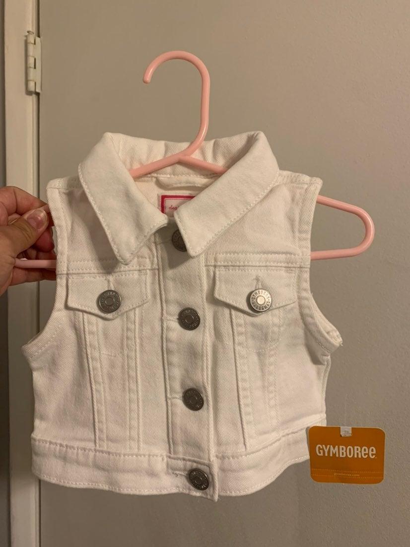 Gymboree white kids vest