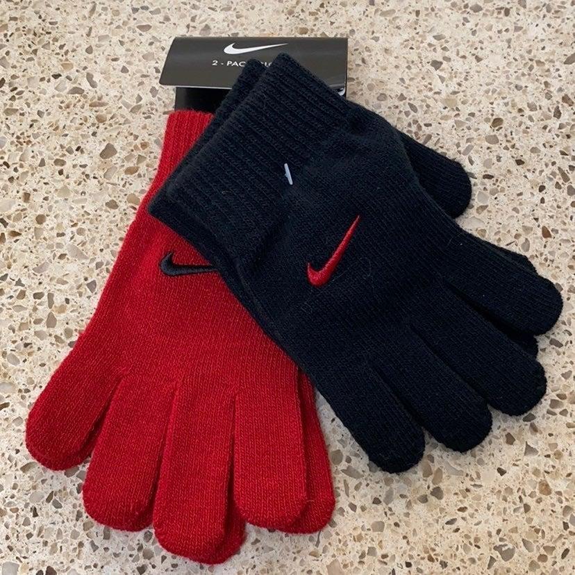 Nike 2 pack boys knit gloves