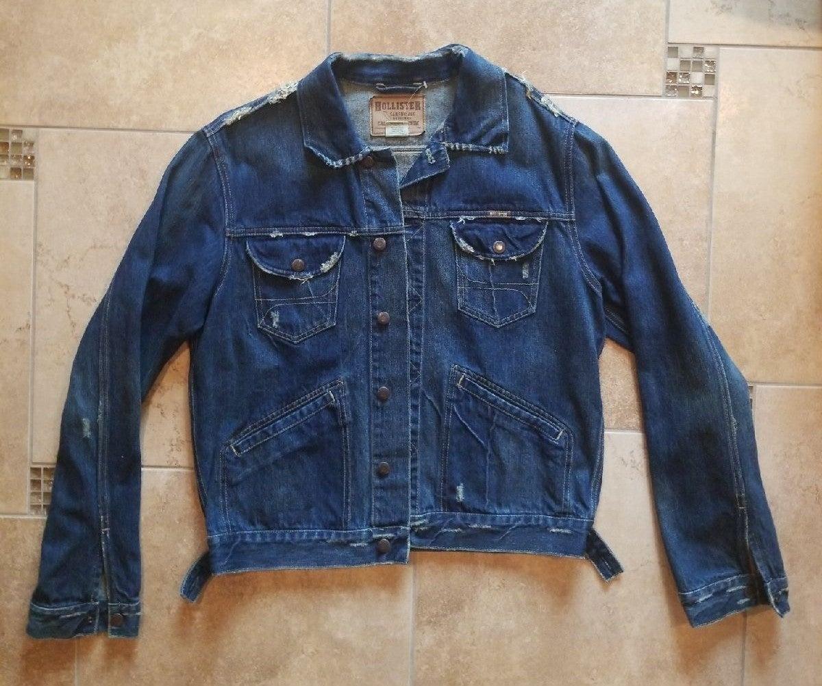 Hollister Sanforized Denim Jacket Men XL