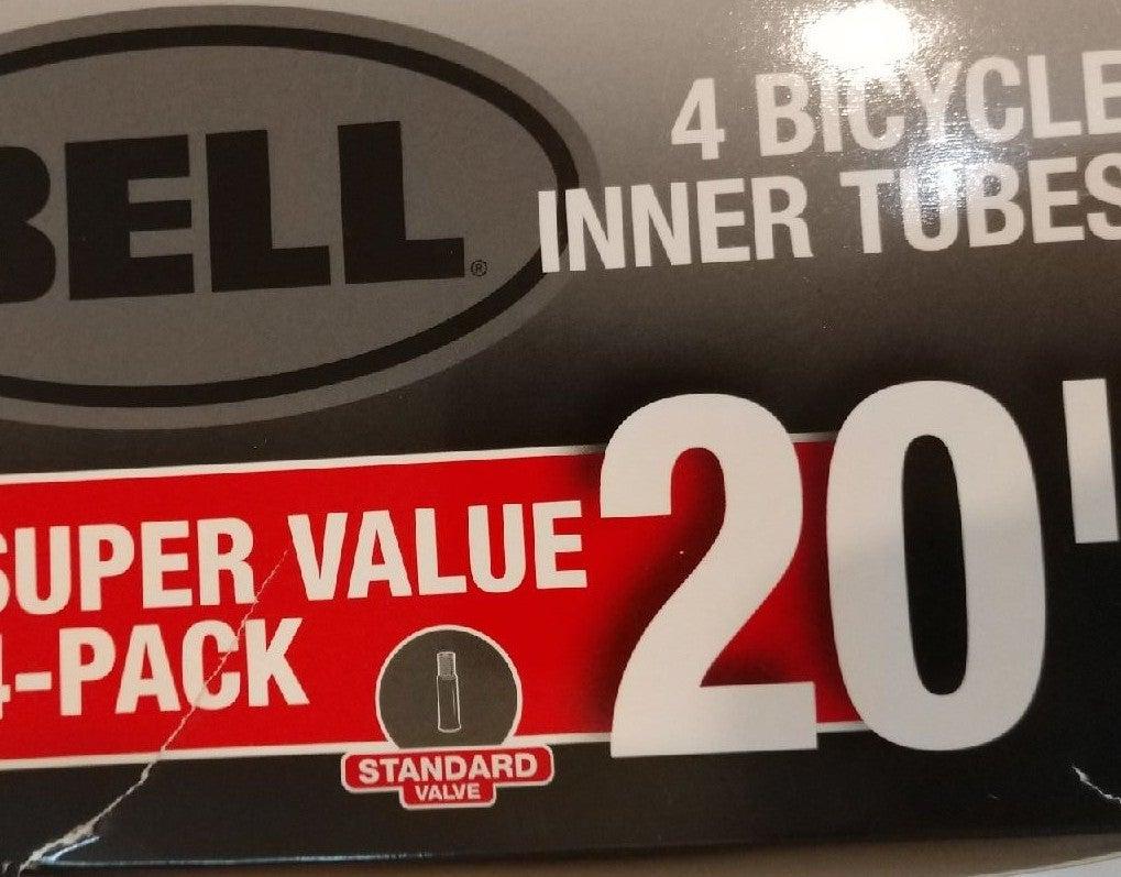 """4 pack Bell 20"""" x 1.75""""-2.25"""" bike inner"""