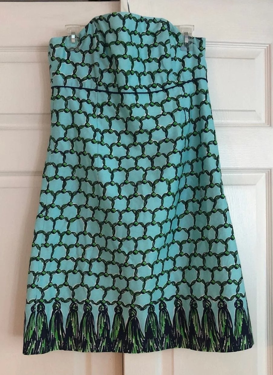 Lilly Pulitzer Turquoise Strapless