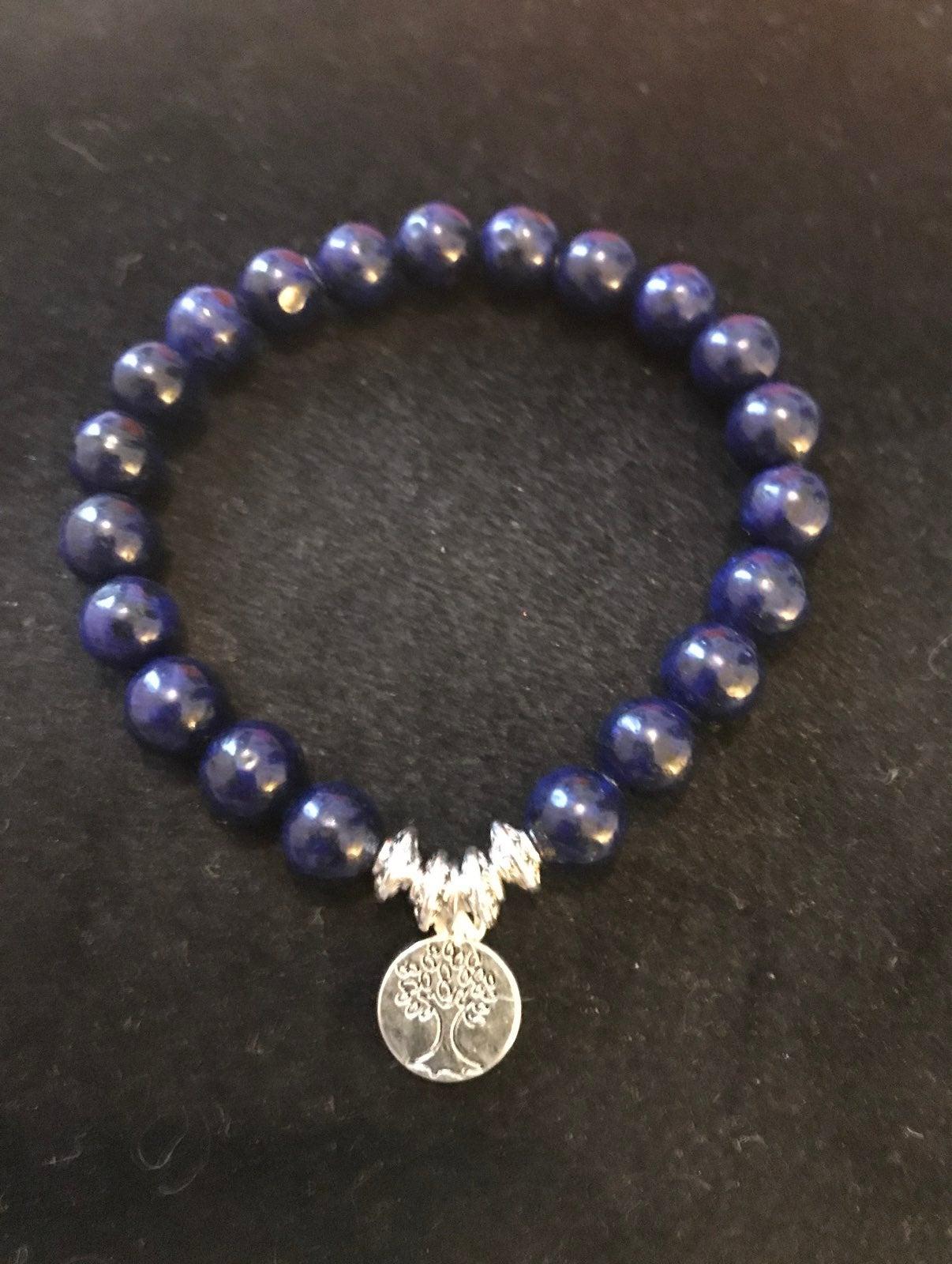 Lapis lazuli bracelet  With charm