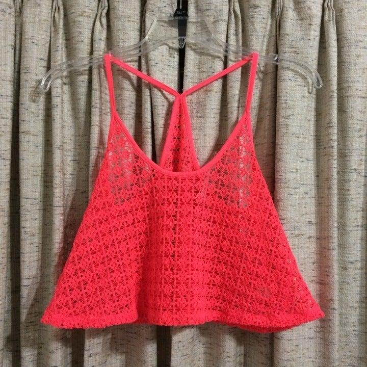 PINK VS Crochet Swim Cover Up
