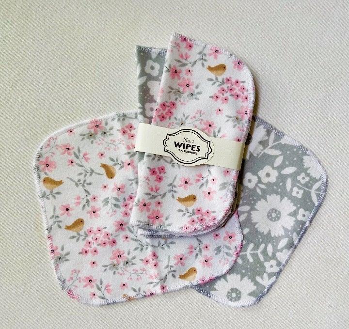 10 Washable Cloth Wipes- Baby, TP, Bidet