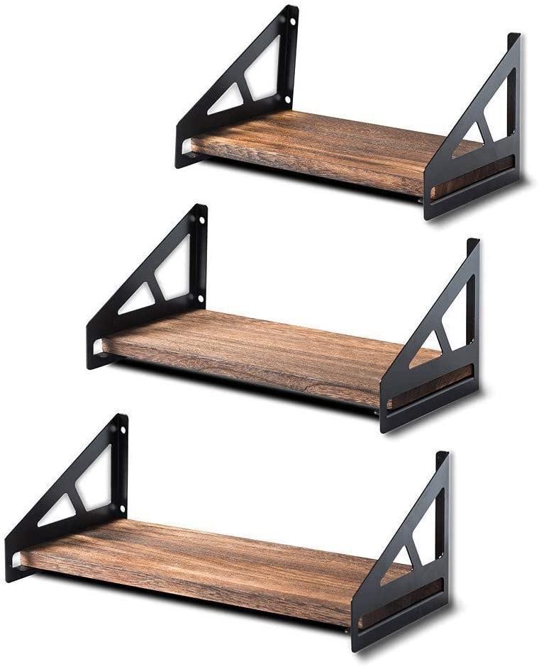 Wood Wall Shelves Set of 3