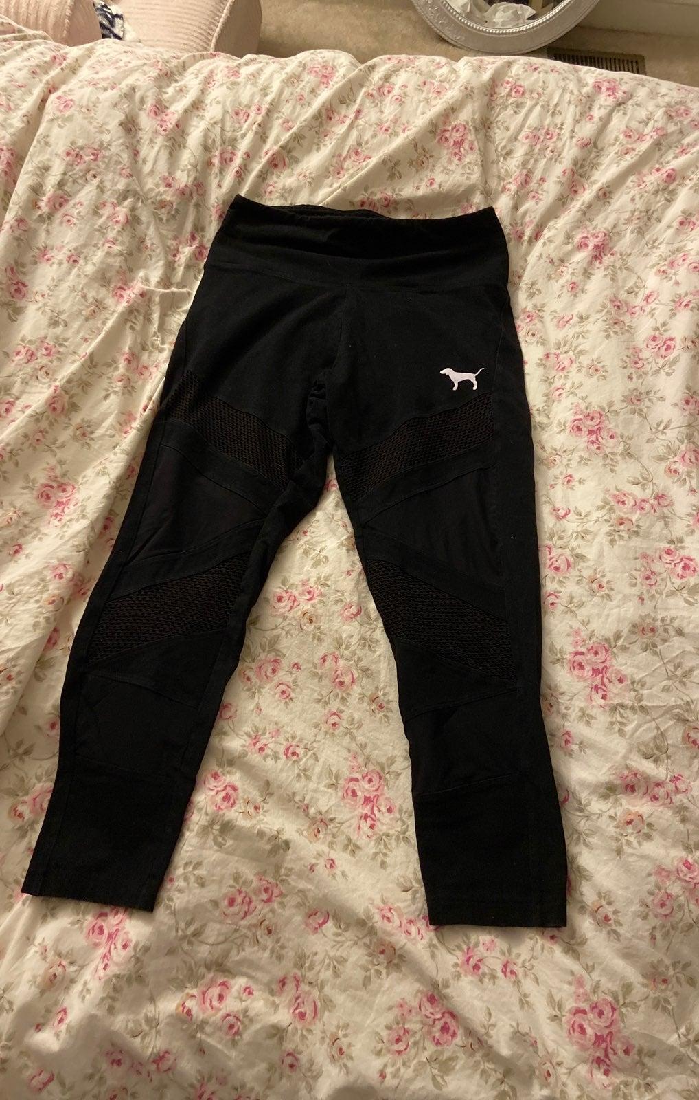 Pink Victoria's Secret mesh leggings