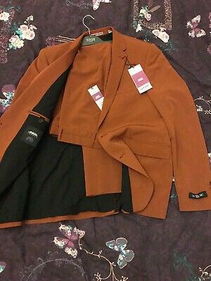 Burton brown skinny suit