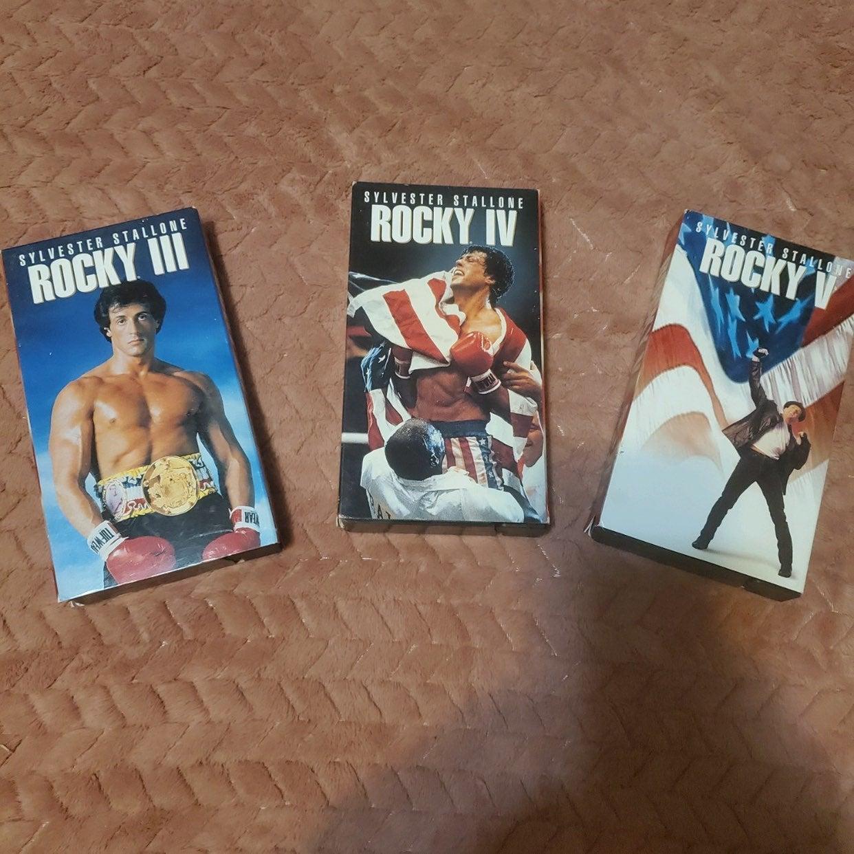 Vintage Rocky VHS tape lot