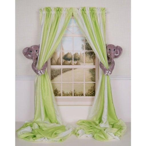 Elephant Curtain Tieback Holdback Set