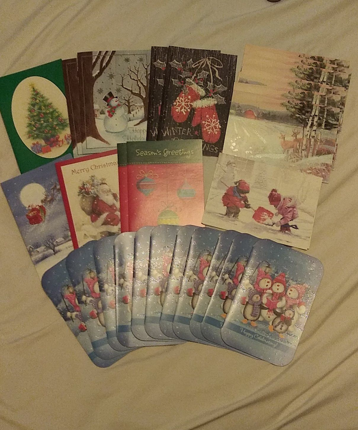 28 New Christmas Cards with envelopes