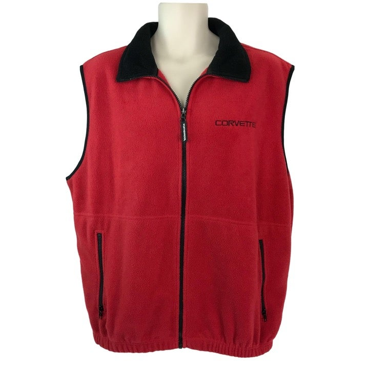 Corvette Mens XL Red Fleece Vest