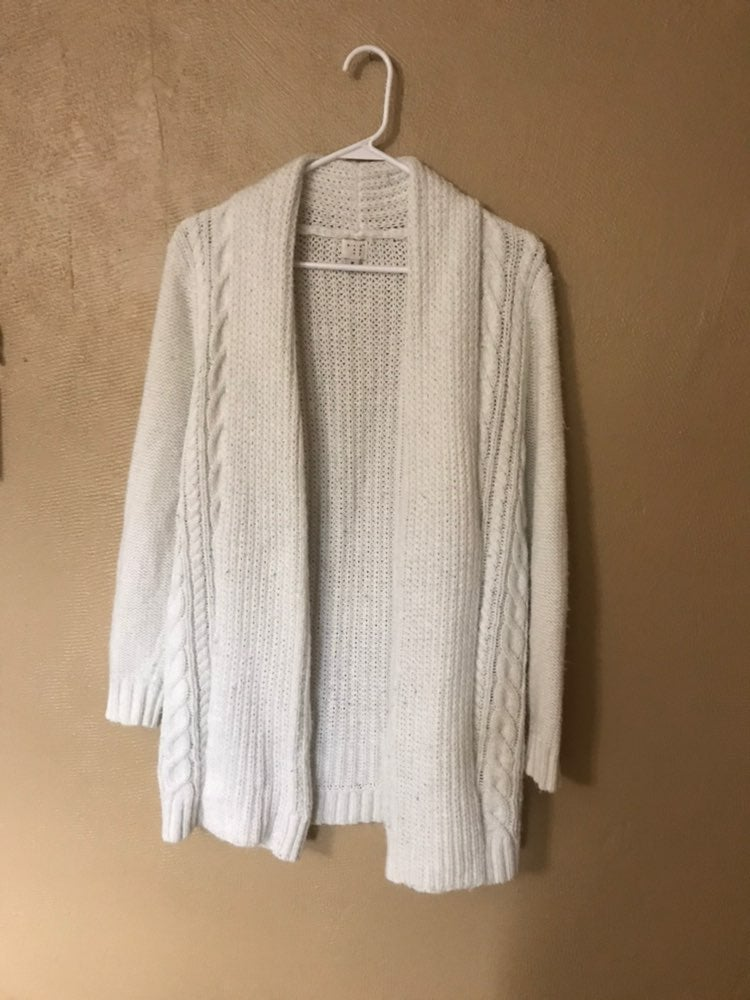 White Sweater Cardigan