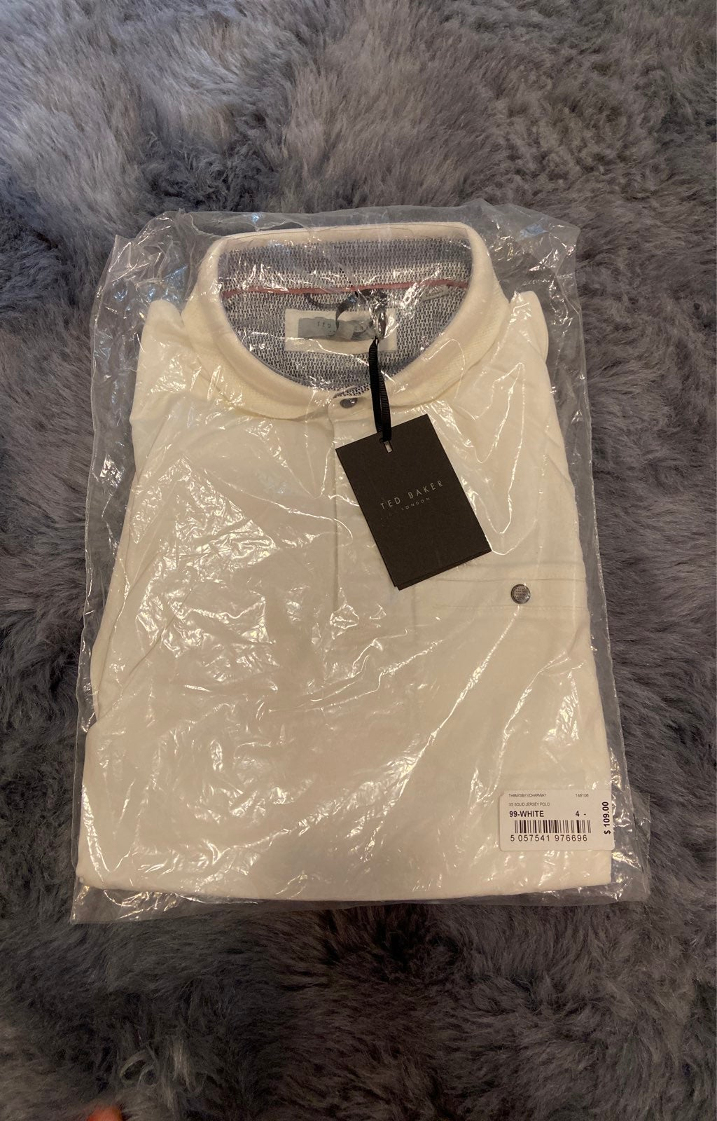 Ted Baker Solid Jersey Polo - NWT