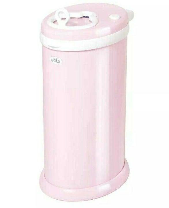 Ubbi Diaper Pail Pink Odor Locking