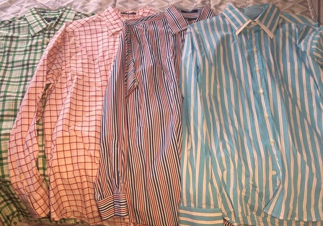 GANT Men's Button Down Bundle of 4 Large