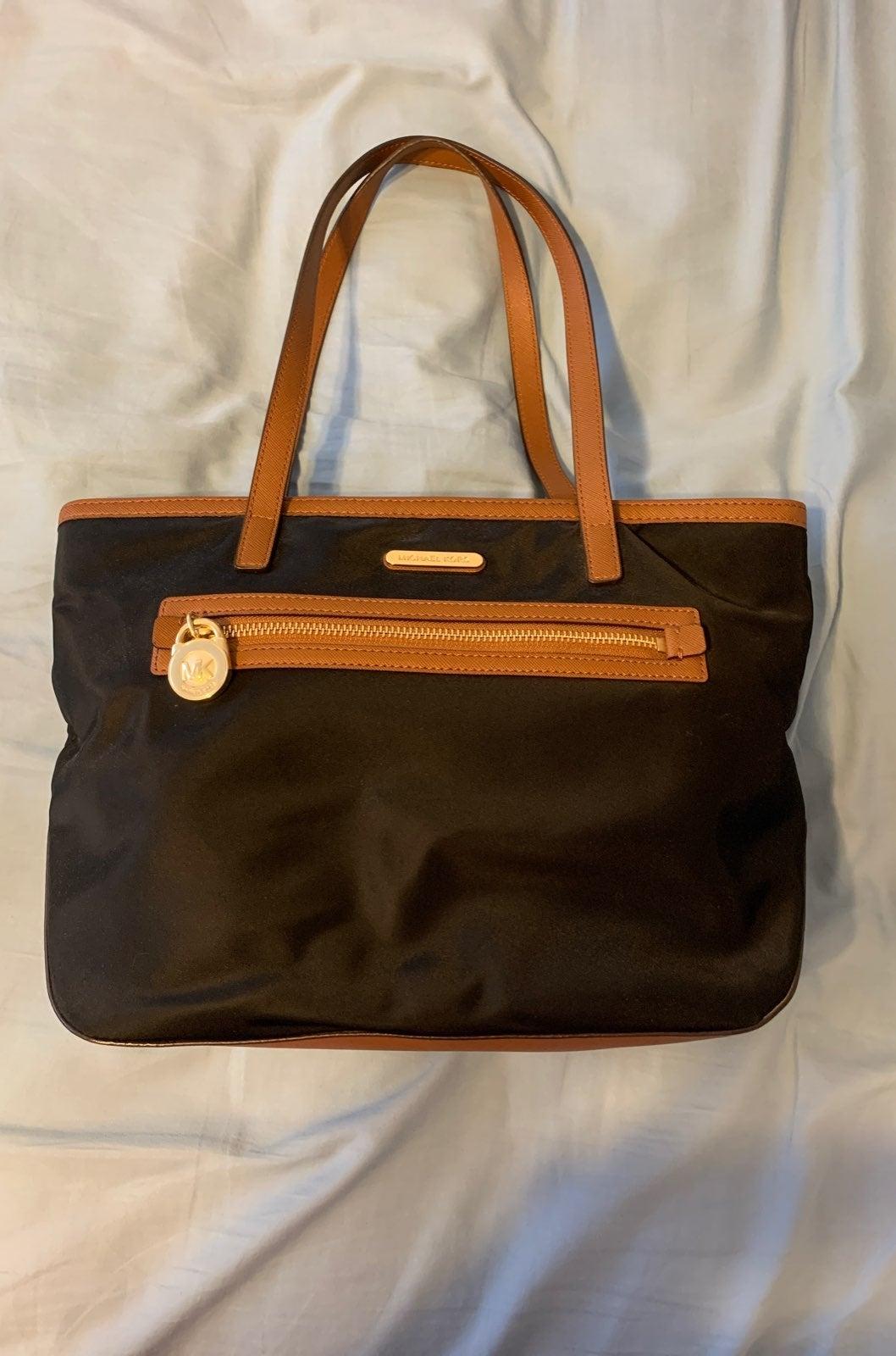 Michael Kors black nylon/leather purse