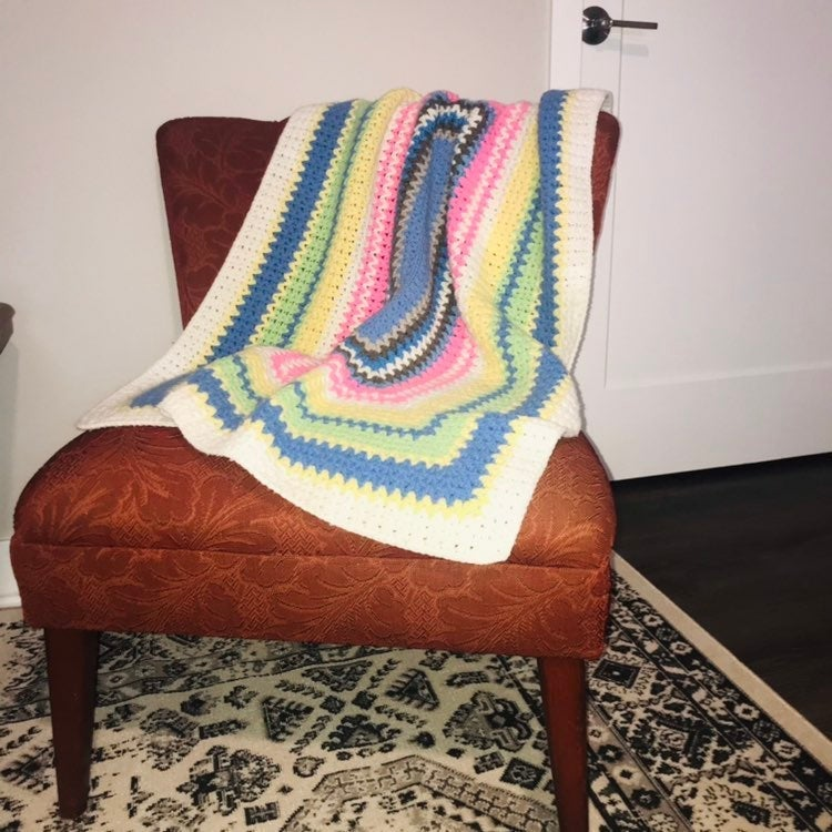 Granny Crotchet Afghan throw blanket